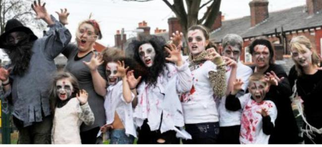 Zombie attack in Horwich
