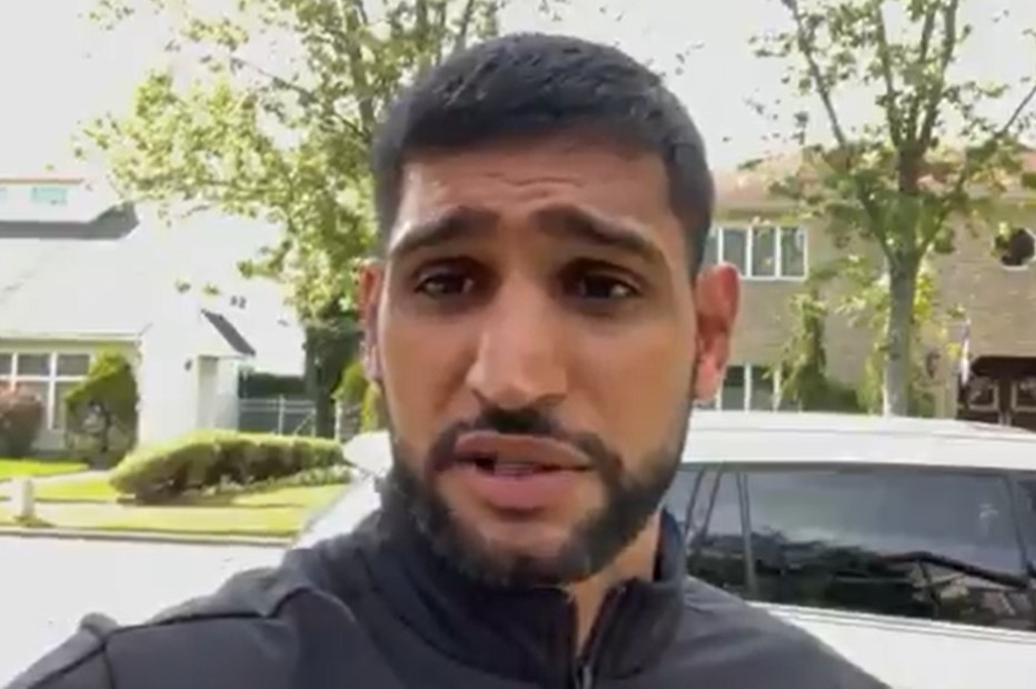 Amir Khan claims American Airlines 'kicked him off flight' in Covid mask row