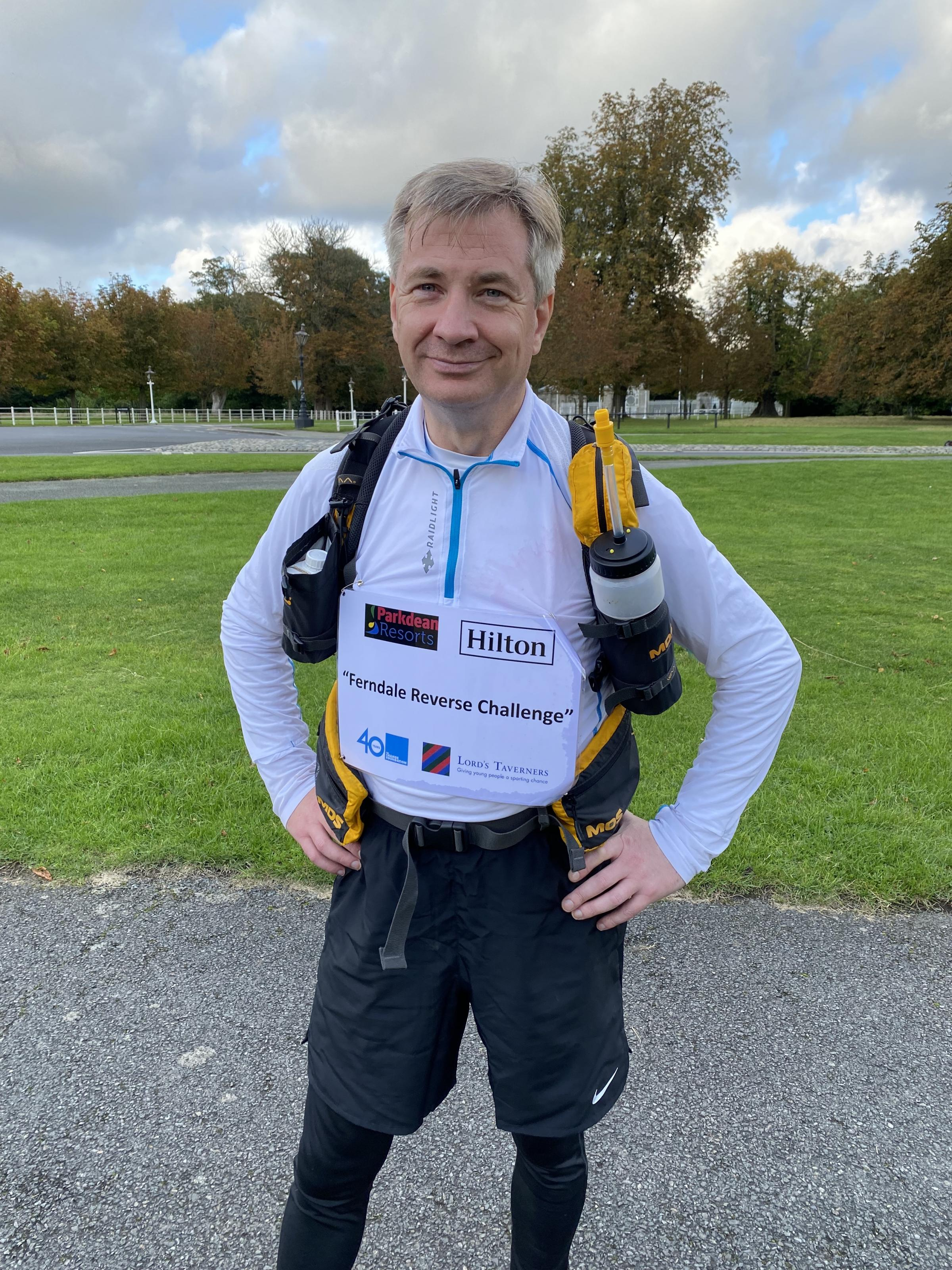 Charity star Michael Ferndale reflects on epic five-day Reverse Running Challenge journey
