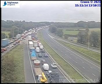 Bolton News: Traffic on the M56 (Image: Highways of England)