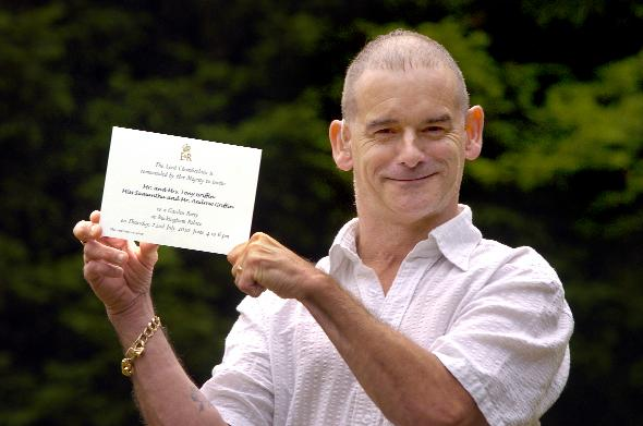 REAL HONOUR: Paralympian Tony Griffin with his invitation to the Royal Garden Party