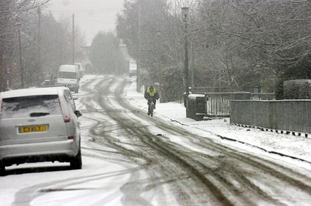 Snow has caused problems for motorists in the region but Leigh has escaped the worst weather.