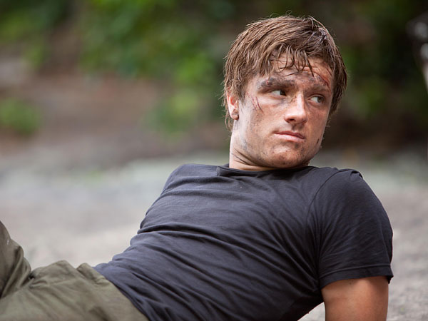 Josh Hutcherson in the movie, The Hunger Games