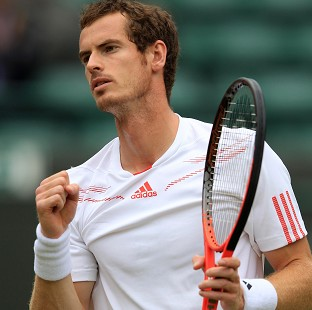 Andy Murray has clinched his quarter-final place at Wimbledon