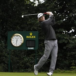 James Driscoll tees off at Royal Lytham's par-three first hole