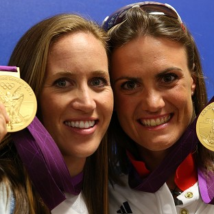 Britain's rowers hope to follow in Helen Glover (left) and Heather Stanning's footsteps on Thursday