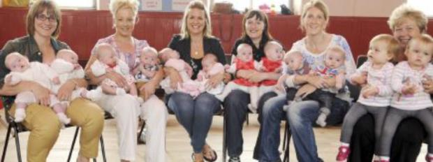 Six sets of twins at one nursery