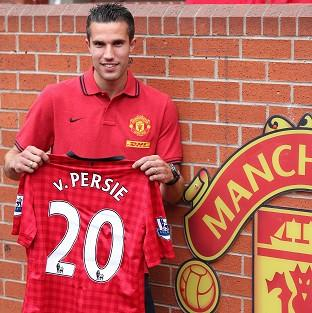 After signing Robin van Persie, pictured, Roberto Mancini believes Manchester United boast the best strikeforce in world football