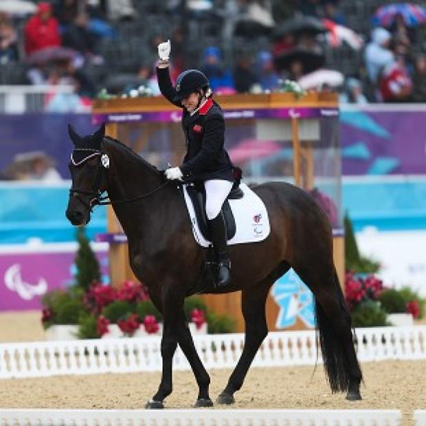 Natasha Baker set the best score in the equestrian grade II team event