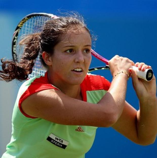 Laura Robson, pictured, faces defending US Open champion Sam Stosur in the next round