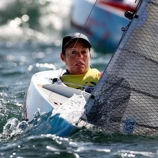 Helena Lucas secured gold after the final day's sailing was cancelled