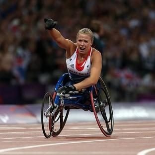 Hannah Cockroft claimed gold again in the Olympic Stadium