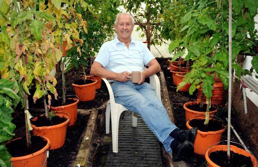 £25m winner Brian likes nothing better than pottering on his allotment