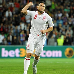 Frank Lampard scored two first-half goals as England cruised to a 5-0 w