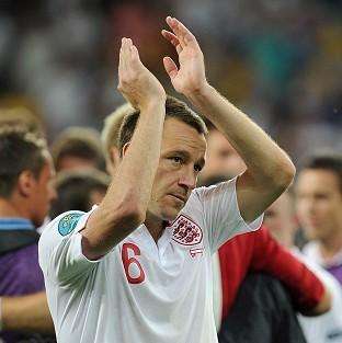 John Terry played on for England despite taking a knock