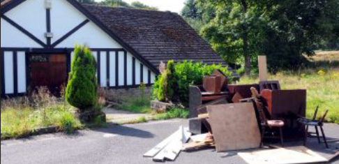 Anger over rubbish left behind when Coaching House closed