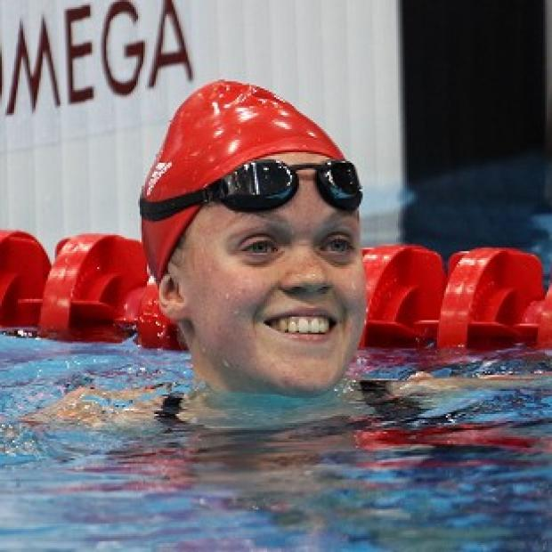 Ellie Simmonds following the women's S6 100m freestyle heats