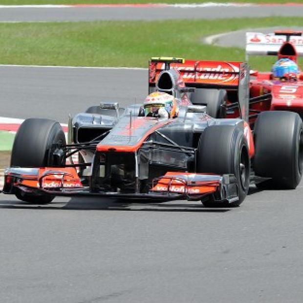 The Bolton News: Lewis Hamilton, front, was quickest in final practice by the most slender of margins