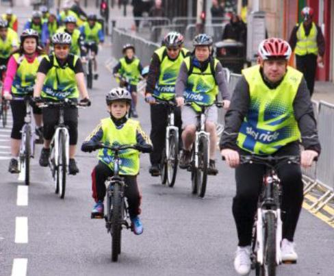 Sky riders take to the streets of Bolton