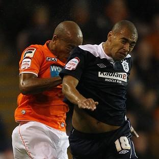 On-loan striker James Vaughan, right, scored Huddersfield's second goal of the match