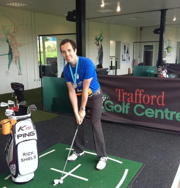 Rick Shiels goes for a golfing world record