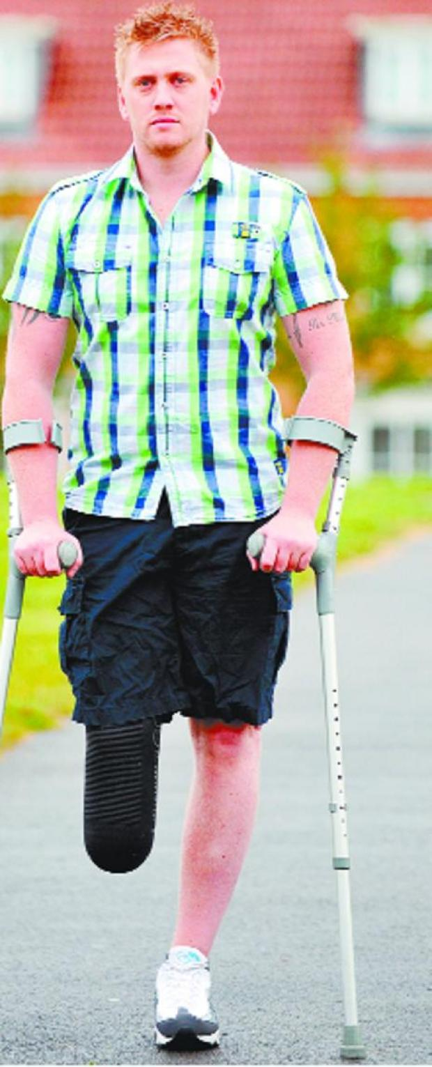 The Bolton News: Soldier loses leg in Afghan bomb blast - but told he cannot claim benefits