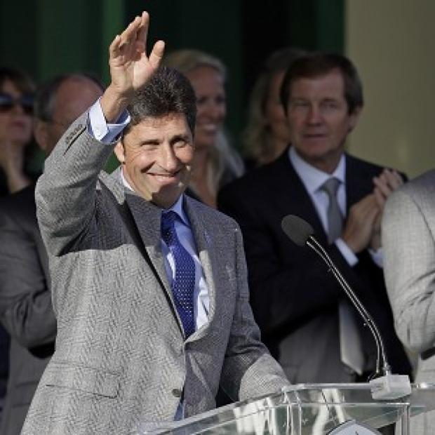 Jose Maria Olazabal at the Ryder Cup opening ceremony (AP)