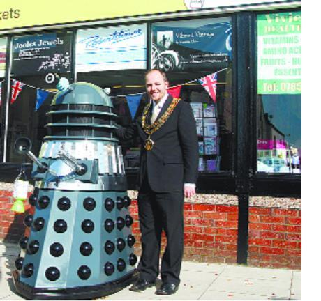 Dalek drops in for charity collection