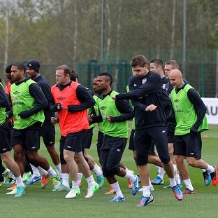 England's players, led by captain Steven Gerrard, in training soon after receiving the new code of conduct