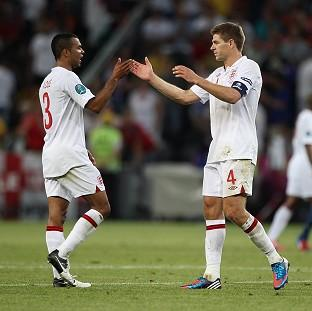 The Bolton News: Steven Gerrard, right, and Ashley Cole, left, will collect their 99th caps for England against Poland