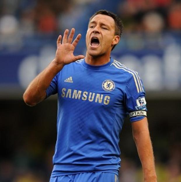 John Terry, pictured, has been handed a club-record fine, according to chairman Bruce Buck