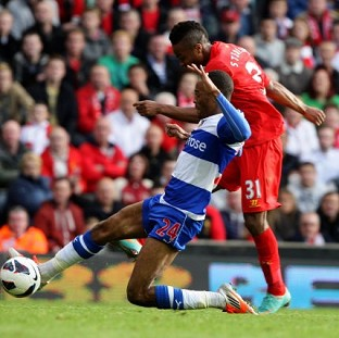 Brendan Rodgers praised Raheem Sterling, pictured, after his goal sealed Liverpool's first win of the season at Anfield
