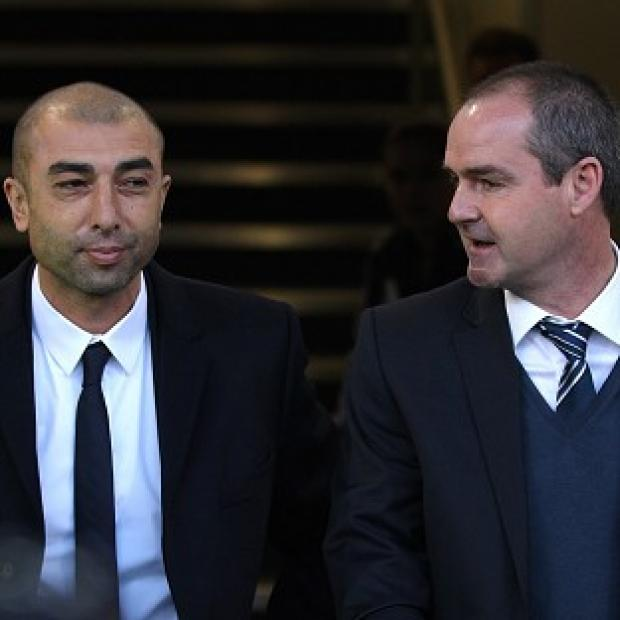 Roberto Di Matteo, left, was not happy with how Chelsea defended against Steve Clarke's West Brom