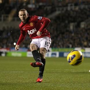 Wayne Rooney scored Manchester United's second goal of the game from the penalty spot