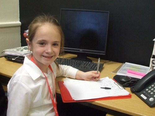 Rosie Simpson was deputy head for the day.