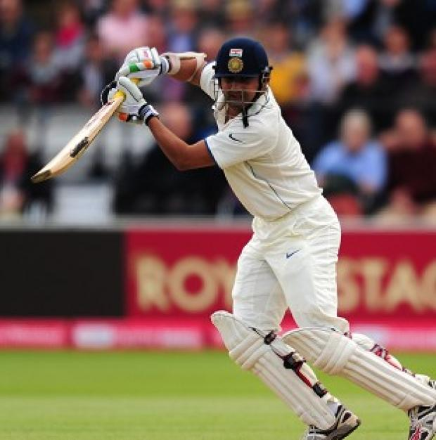 The Bolton News: Gautam Gambhir escaped on 36 but was out four runs later as England began the fast track for victory