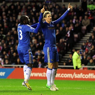 Fernando Torres, right, scored twice in the first half for Chelsea