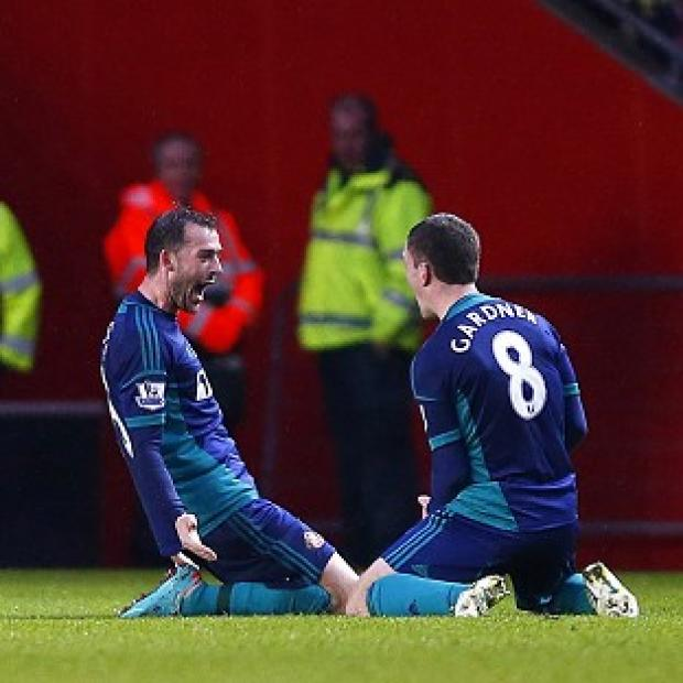 Steven Fletcher, left, scored the winner for Sunderland