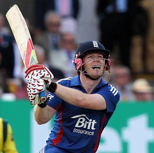 Eoin Morgan's last-ball six earned England a series-drawing victory over India