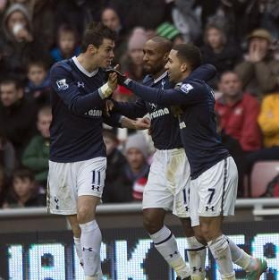 Aaron Lennon, right, bagged the winner as Tottenham beat Sunderland