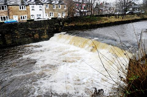WHITE WATER Pendle Water running through Barrowford Park has become swollen by high rainfall during the Christmas and New Year holiday period