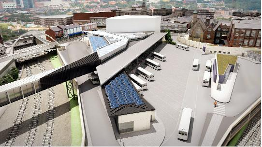 The Bolton News: An artist's impression of how the new Bolton Interchange will look