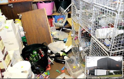 The Bolton News: Crowbar vandals trash Bacup Hub