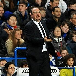 Rafael Benitez, pictured, was disappointed that Demba Ba's effort was ruled offside