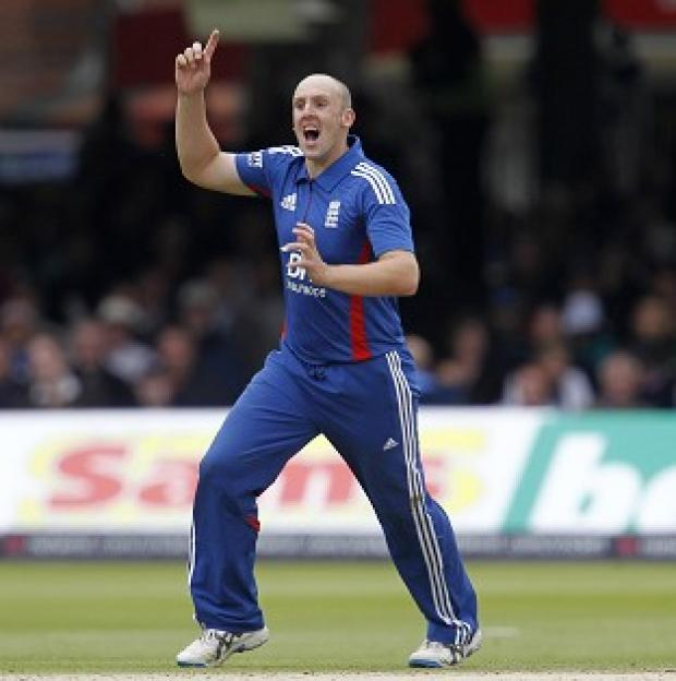 James Tredwell, pictured, removed opener Ajinkya Rahane