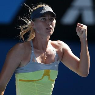 Maria Sharapova continued her ruthless streak to progress to the last eight (AP)