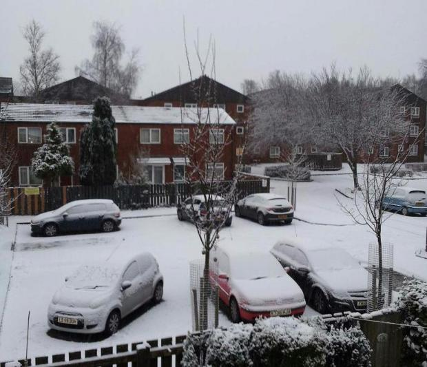 @gazzahall68: Lydbrook Close off Spa Road .. Very snowy
