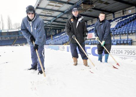 Snow chance of play as big freeze hits Gigg Lane