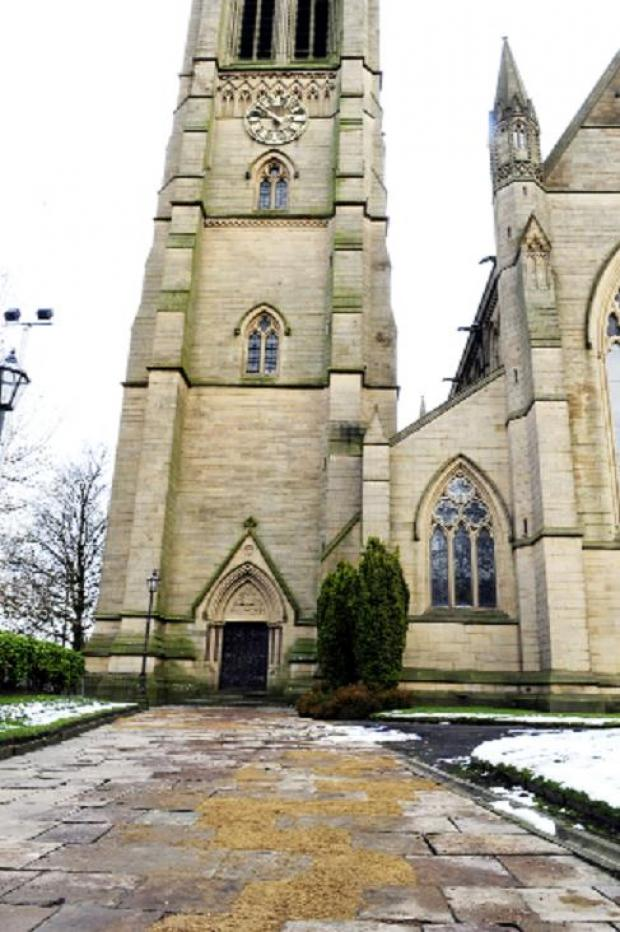 Thieves rip up 100-year-old paving stones at Bolton Parish Church