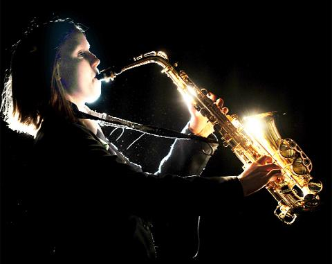 Megan Mulvihill on saxophone